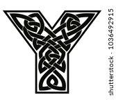 letter of the english alphabet... | Shutterstock .eps vector #1036492915