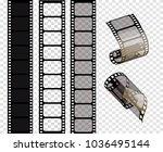 set of vector film strips ...