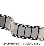 isolated film with white... | Shutterstock .eps vector #1036495159