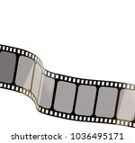 isolated film with white... | Shutterstock .eps vector #1036495171