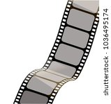 isolated film with white...   Shutterstock .eps vector #1036495174