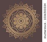 mandala vector design element.... | Shutterstock .eps vector #1036503334