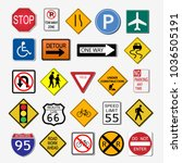 illustration of various road... | Shutterstock .eps vector #1036505191