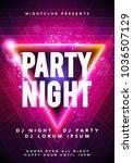 vector illustration dance party ... | Shutterstock .eps vector #1036507129