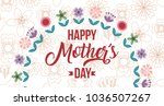 happy mothers day card | Shutterstock .eps vector #1036507267