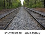 double railway in a forest | Shutterstock . vector #103650839