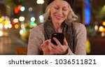 smiling old white lady sitting... | Shutterstock . vector #1036511821