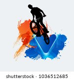 silhouette of bicycle jumper | Shutterstock .eps vector #1036512685