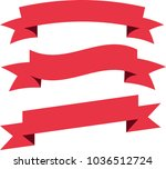 red ribbon set vector | Shutterstock .eps vector #1036512724