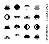 icons weather with sunset ... | Shutterstock .eps vector #1036513921