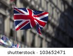 British Flag  On The Wind
