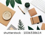 Flat Lay Minimalistic Green And ...