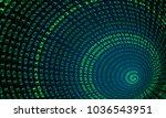 binary code tunnel  vector... | Shutterstock .eps vector #1036543951