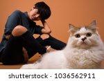 studio shot of young beautiful... | Shutterstock . vector #1036562911