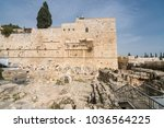 view of the second temple... | Shutterstock . vector #1036564225