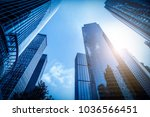 urban building skyscrapers in... | Shutterstock . vector #1036566451