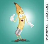 cheerful character teacher... | Shutterstock .eps vector #1036573261