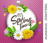 it's spring time banner with... | Shutterstock .eps vector #1036575001