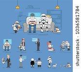 illustration of people avatar... | Shutterstock . vector #1036581784