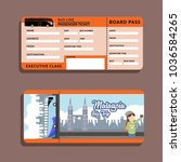 bis ticket malaysia big trip | Shutterstock .eps vector #1036584265