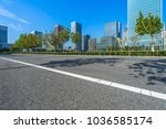 city empty traffic road with... | Shutterstock . vector #1036585174