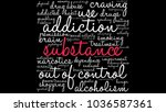 substance word cloud on a white ... | Shutterstock .eps vector #1036587361