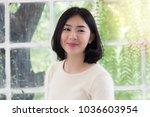beautiful smiling asian teenage ... | Shutterstock . vector #1036603954