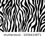 zebra print vector | Shutterstock .eps vector #1036614871