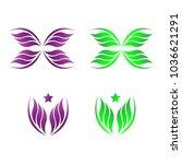 elegant abstract logo design... | Shutterstock .eps vector #1036621291