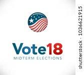election header banner w  vote  | Shutterstock .eps vector #1036621915