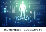 abstract technology ui... | Shutterstock .eps vector #1036629859
