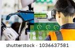 industry 4.0 robot concept ... | Shutterstock . vector #1036637581