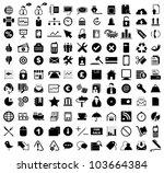 vector illustration of various... | Shutterstock .eps vector #103664384