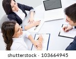 young business people discuss... | Shutterstock . vector #103664945