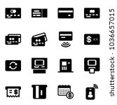 solid vector icon set   credit... | Shutterstock .eps vector #1036657015