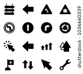 solid vector icon set   sign... | Shutterstock .eps vector #1036660339