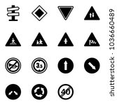 solid vector icon set   road... | Shutterstock .eps vector #1036660489