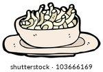 cartoon bowl of noodles | Shutterstock . vector #103666169