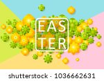 easter sale banner background...   Shutterstock .eps vector #1036662631