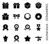 solid vector icon set   gift... | Shutterstock .eps vector #1036668961