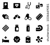 solid vector icon set   first... | Shutterstock .eps vector #1036669081