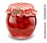 strawberry jam - stock vector