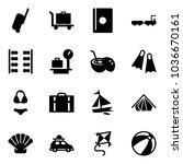 solid vector icon set  ... | Shutterstock .eps vector #1036670161