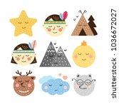 a set of decorative elements... | Shutterstock .eps vector #1036672027