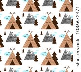 children's seamless pattern in... | Shutterstock .eps vector #1036672471