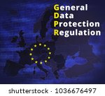 gdpr   general data protection... | Shutterstock . vector #1036676497