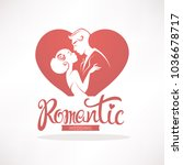 romantic wedding  vector logo ... | Shutterstock .eps vector #1036678717
