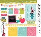 scrapbook design elements  ... | Shutterstock .eps vector #103668635