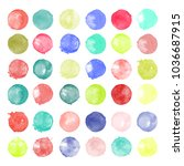 set of watercolor shapes.... | Shutterstock .eps vector #1036687915