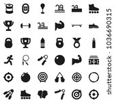 flat vector icon set   award... | Shutterstock .eps vector #1036690315